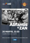Concert Alifantis & ZAN pe 20 martie 2020 in Hard Rock Cafe