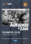 Concert Alifantis & ZAN pe 20 martie 2020 in Hard Rock Cafe