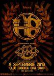 Afis Concert H8 in Club Fabrica din Bucuresti