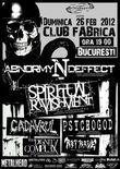 AMANAT: Concert Abnormyndeffect, Spiritual Ravishment si Cadavrul in Club Fabrica