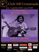 Concert Ada Milea in 100 Crossroads