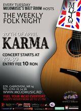 Concert Karma la MoJo BritRoom din Bucuresti