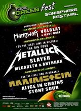 Concert Metallica, Slayer si Anthrax in Romania la Sonisphere / Tuborg Green Fest
