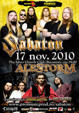 Concert Sabaton si Alestorm in Silver Church Club din Bucuresti