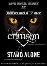 Concert Crimson si Stand Alone in club MusiC'at Satu Mare