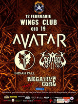 Concert Avatar, Indian Fall si Grimegod in Wings Club