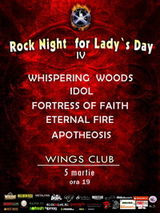 Rock Night for Lady's Day in Wings Club Bucuresti