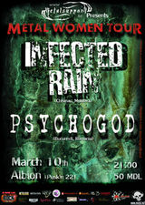 Concert Psychogod si Infected Rain in club Albion Chisinau