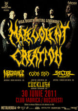 Concert Malevolent Creation in Club Fabrica din Bucuresti