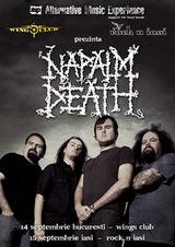 Concert Napalm Death in Underground Pub din Iasi