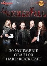 Concert Hammerfall la Hard Rock Cafe din Bucuresti
