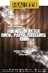 Concert Rock Paper Scissors, Friends Of Peter si RMN in Elephant Bucuresti