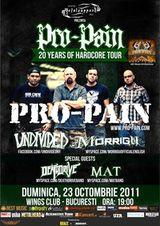 Concert Pro-Pain si multi altii in Club Wings Bucuresti