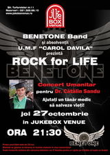 Concert umanitar 'Rock for life' in Jukebox Venue