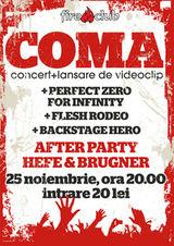 Concert de lansare a noului videoclip Coma in Fire Club