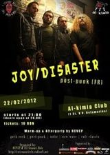 Concert Joy Disaster in Al-kimia Club din Timisoara