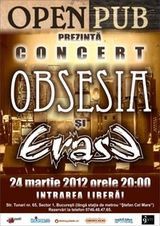Concert Obsesia si Erase in Open Pub Bucuresti