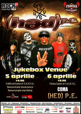 Concert (HED) P.E. in Jukebox Venue Bucuresti