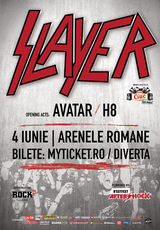 Concert SLAYER la Arenele Romane din Bucuresti