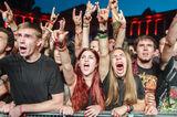 Poze cu publicul la concertul Slayer