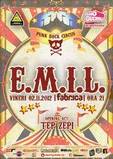 E.M.I.L. si Tep Zepi: Concert la Bucuresti