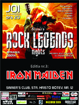 Rock Nights Legends: Iron Maiden - Sinner's Club