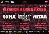 Adrenaline Tour: concert Coma, IPR si Altar in Timisoara