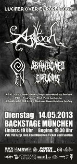 Agalloch, Fen, Abandoned Dreams live in Munchen
