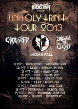 Unholy Trinity - Concert Deliver the God, Code Red si Indian Fall la Arad, in Club Nerv, pe 16 Octombrie