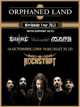 Concert Orphaned Land la Brasov, in Club Rockstadt, pe 16 Octombrie