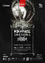Concert Kratos, DinUmbra, Spinecrusher, Vineri 18 Octombrie in Ageless Club