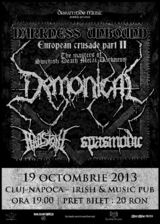 Concert Demonical, Spasmodic si Hailstone la Cluj-Napoca, in Irish & Music Pub, Sambata 19 Octombrie
