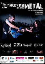 Festivalul Rock'N'Iasi: Sectiunea Metal 19 - 20 Octombrie la Casa de Cultura a Studentilor