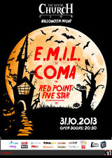 Concert COMA si E.M.I.L la Bucuresti, in Silver Church, pe 31 Octombrie