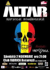 Concert Altar in Club Fabrica, Sambata 2 Noiembrie in cadrul turneului Rapsodia Romaneasca