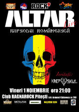 Concert Altar la Pitesti, in Club Ragnarock, Vineri 1 Noiembrie
