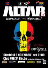 Concert Altar la Bacau, in Pub S4, Sambata 9 Noiembrie