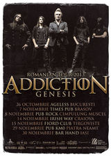Concert Addiction la Tirgoviste, in Fiord Club, pe 15 Noiembrie