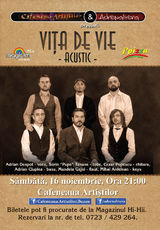 Concert Vita de Vie acustic, Sambata, 15 noiembrie la Buzau