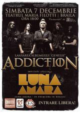 Concert Addiction si Luna Amara la Teatrul Maria Filotti din Braila
