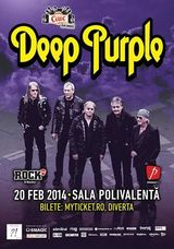 Concert Deep Purple in Romania la Bucuresti in februarie 2014