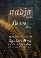 Concert Nadja in martie la Question Mark