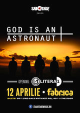 Concert God Is An Astronaut in aprilie la Fabrica