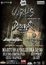Contaminate Europe Tour 2014: Concert Virus & Decease in Flying Circurs Pub