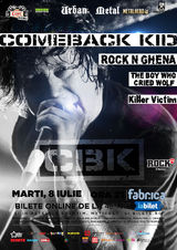 COMEBACK KID canta in premiera la Bucuresti pe 8 iulie