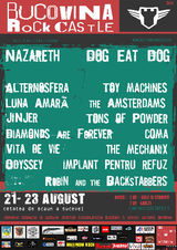 Nazareth si Dog Eat Dog canta la Bucovina Rock Castle in august