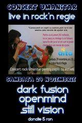 Concert caritabil Dark Fusion, Openmind si Still Vision in Rock n Regie Bucuresti