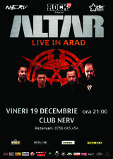 Altar canta in club Nerv din Arad