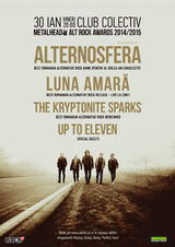 Alternosfera, Luna Amara, The Kryptonite Sparks - Metalhead Alt Rock Awards pe 30 ianuarie la Colectiv