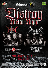 Concert Infest si Decease pe 30 mai, cu Killer Victim si Damage Case in deschidere. Club Fabrica